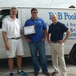 B & B Pools - Father and Son - Owners - Harry and Bryan Banta-
